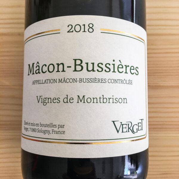 Maison Verget Mâcon Bussières Vignes de Montbrison 2018