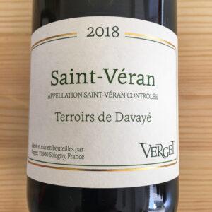 Maison Verget Saint-Véran Terroirs de Davayé 2018